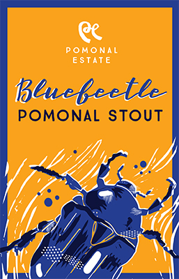 Blue Beetle Stout Beer label