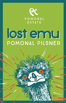Lost Emu Pomonal Pilsner - label