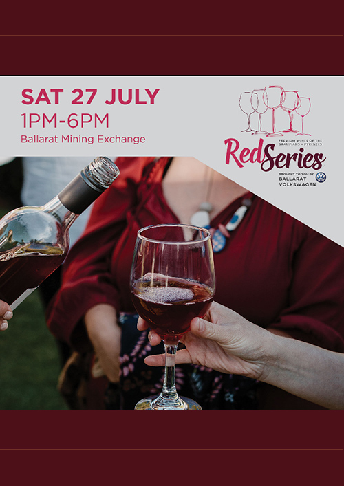 Poster: Red Series - Ballarat Mining Exchange 1pm to 6pm