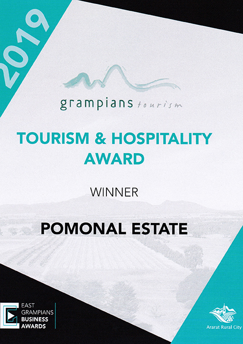 Pomonal Estate 2019 Tourism & Hospitality Award image