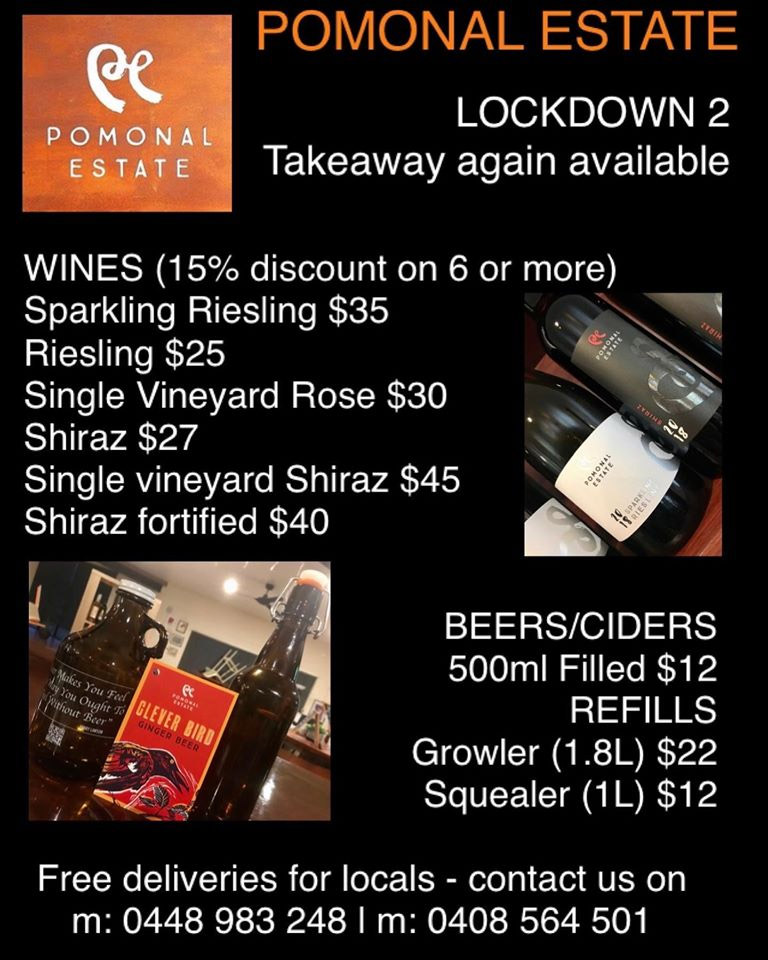 Poster: Chocolate Workshops at Pomonal Estate Winery and Accommodation