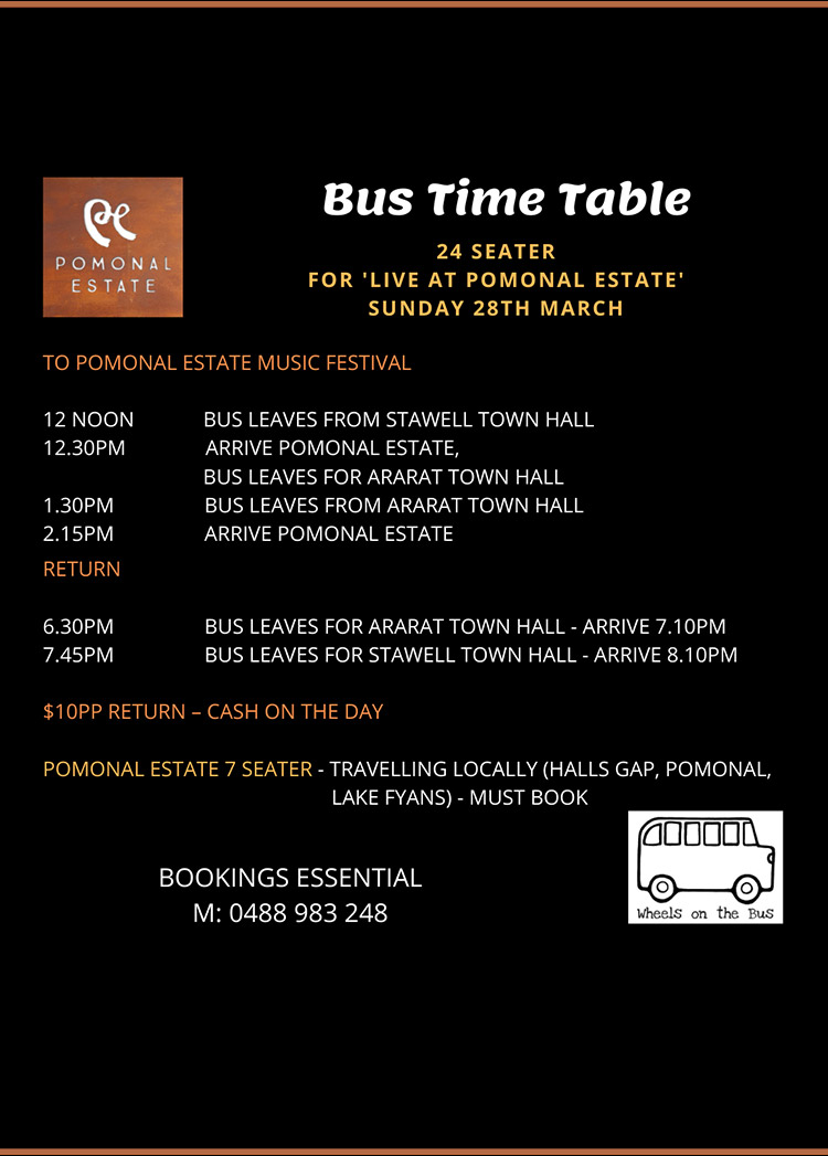 Live at Pomonal Estate Bus Time Table