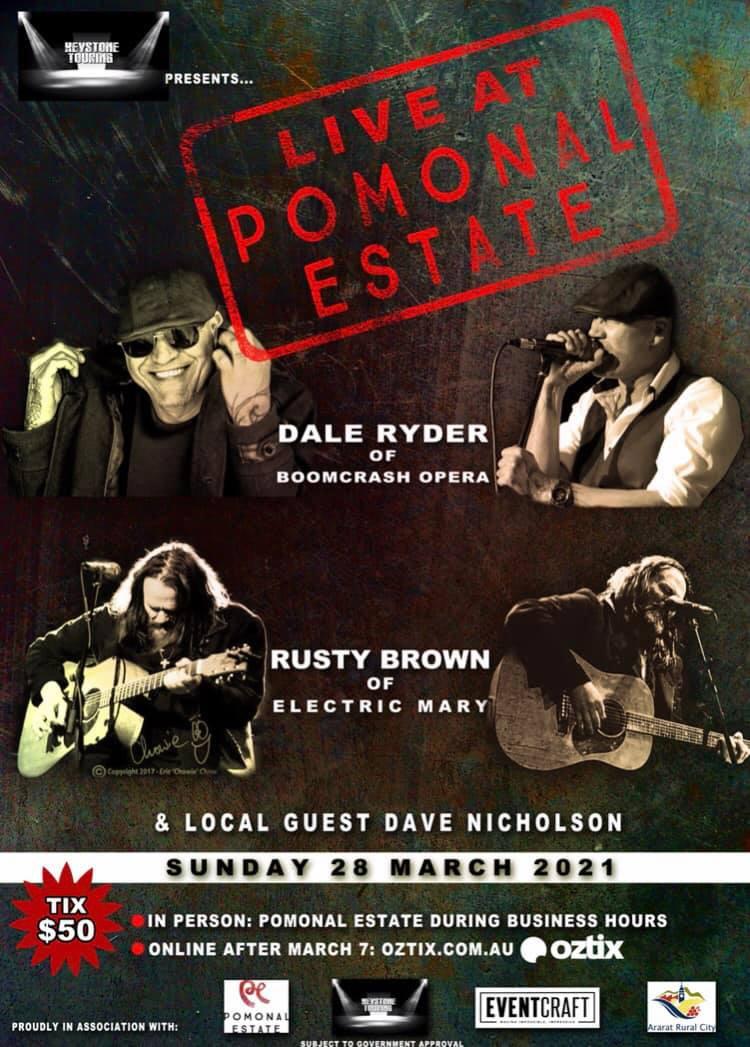 Pomonal Estate Gig Poster